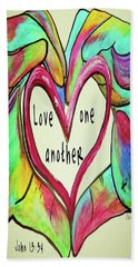 Love One Another John 13 34 Bath Towel