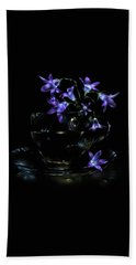 Hand Towel featuring the photograph Bluebells by Alexey Kljatov
