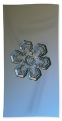 Bath Towel featuring the photograph Snowflake Photo - Massive Silver by Alexey Kljatov