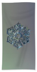 Snowflake Photo - Silver Foil Bath Towel