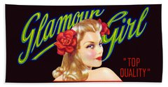 Hand Towel featuring the painting 1945 California Glamour Girl  by Historic Image