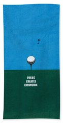 Focus Creates Expansion Corporate Start-up Quotes Poster Hand Towel