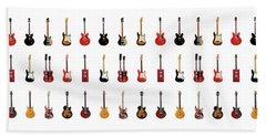 Guitar Icons No2 Hand Towel by Mark Rogan