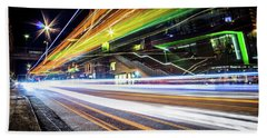 Bath Towel featuring the photograph Light Trails 1 by Nicklas Gustafsson