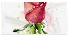 Pink Flowers Hand Towels