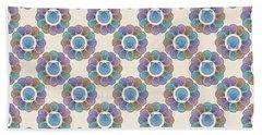 Scallop Shells Circle Multi Color Bath Towel