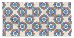 Scallop Shells Circle Multi Color Hand Towel