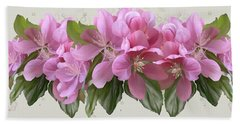 Bath Towel featuring the painting Pink Blossoms by Ivana Westin