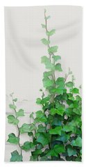 Bath Towel featuring the painting Vines By The Wall by Ivana