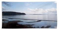 Rock Point North View Horizontal Hand Towel by Felipe Adan Lerma