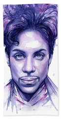 Prince Purple Watercolor Hand Towel