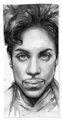 Prince Watercolor Portrait Hand Towel