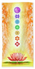 Sacred Lotus - The Seven Chakras Bath Towel