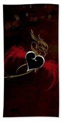 One Love, One Heart Bath Towel