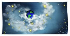 The World In His Hands Bath Towel by Methune Hively