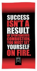 Success Is Not A Result Gym Motivational Quotes Poster Hand Towel