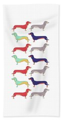 Dachshunds Hand Towel