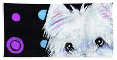 Kiniart Disco Westie Hand Towel
