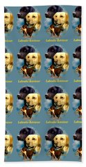 Labrador Retriever With Name Logo Bath Towel