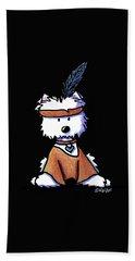 Westie Pocahontas Bath Towel