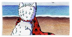 Kiniart Beach Blanket Westie Hand Towel