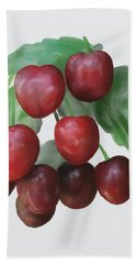 Bath Towel featuring the painting Sour Cherry by Ivana Westin