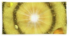 My Golden Universe Bath Towel by Methune Hively