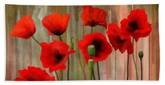 Bath Towel featuring the painting Poppies  by Ivana Westin