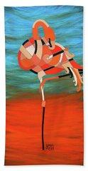An Elegant Flamingo Hand Towel