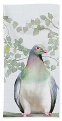 Bath Towel featuring the painting Wood Pigeon by Ivana Westin