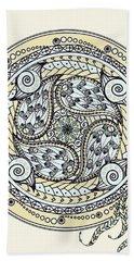 Paisley Balance Mandala Bath Towel by Deborah Smith