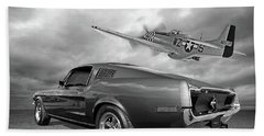 p51 With Bullitt Mustang Hand Towel
