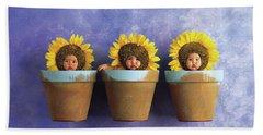 Sunflower Pots Bath Towel