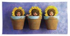 Sunflower Pots Hand Towel