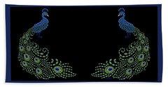 Jeweled Peacock Hand Towel