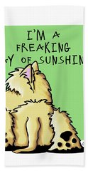 Cairn Terrier Sunshine Bath Towel