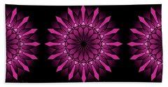 Ombre Pink Flower Mandala Hand Towel