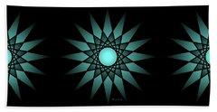 Turquoise Ombre Deep Gaze Mandala Hand Towel