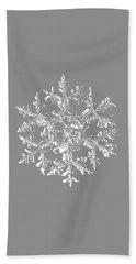 Snowflake Vector - Gardener's Dream Black Version Bath Towel by Alexey Kljatov