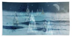 Winter Night Hand Towel