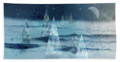 Winter Night Hand Towel by AugenWerk Susann Serfezi