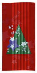Stars And Stripes - Christmas Edition Hand Towel by AugenWerk Susann Serfezi