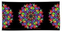 Stained Glass Mandala Bath Towel