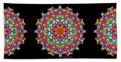 Psychedelic Porcupine Mandala Hand Towel
