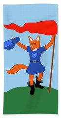 Reynard The Fairy Tale Fox Bath Towel by Marian Cates
