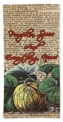 Pumpkin Spice And Everyting Nice Thanksgiving Dictionary Art  Bath Towel