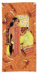 Bharat Hand Towel by Eva Campbell