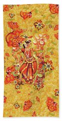 Bath Towel featuring the painting Ganges Flower by Eva Campbell