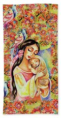 Bath Towel featuring the painting Little Angel Dreaming by Eva Campbell