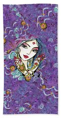 Hands Of India Hand Towel by Eva Campbell